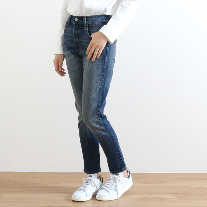 Levi's リーバイス 501 SKINNY STRETCH スキニーフィット ミッドユーズド SUPERCHARGER 29502-0007 レディース