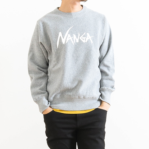 NANGA ナンガ LOGO PRINT CREW NECK SWEAT SHIRT NANGA-SWEAT