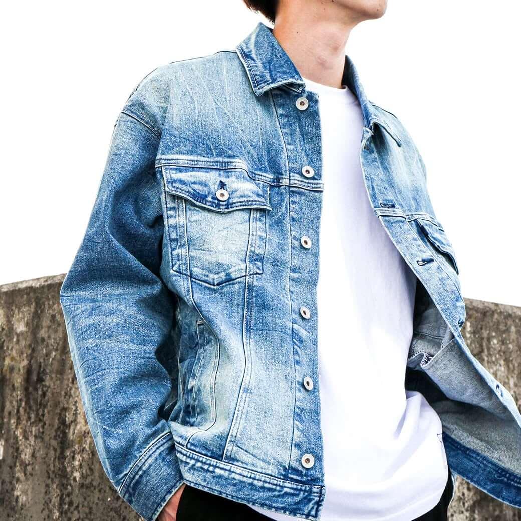 【今だけ10%OFF】oblekt オブレクト 別注ボタニカルデニムジャケット