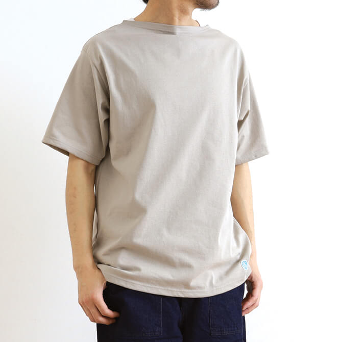 ORCIVAL オーシバル コットンモヨン ボートネック半袖Tシャツ