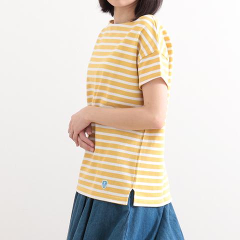 ORCIVAL オーシバル Cotton Lord Short Sleeve Basque Shirt B421