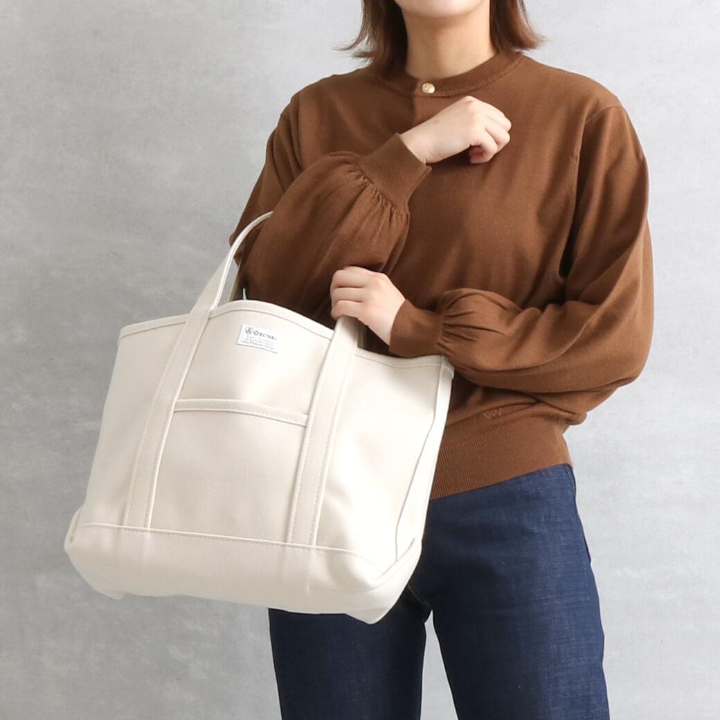 【今だけ10%OFF】ORCIVAL オーシバル ウールメルトントートバッグ (M)