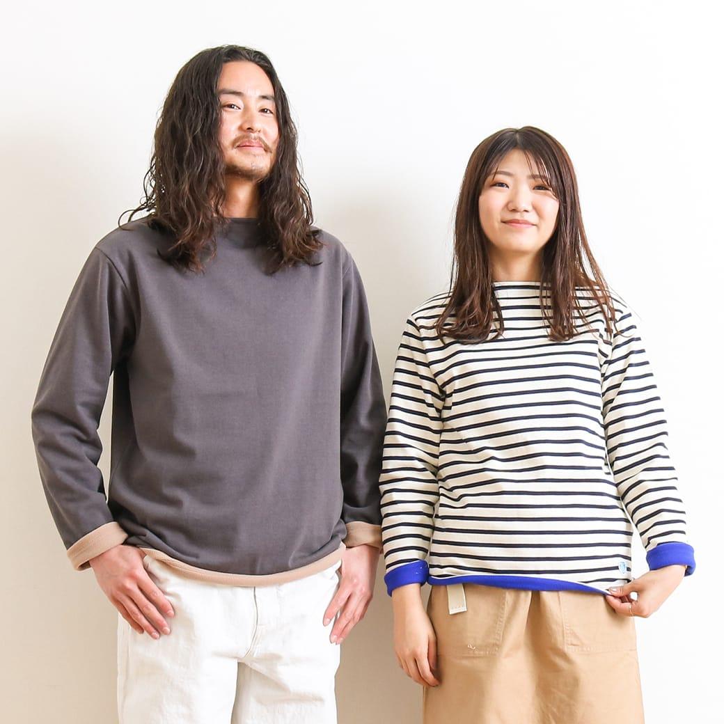 【今だけ10%OFF】ORCIVAL オーシバル コットンロード フリースライニングバスクシャツ