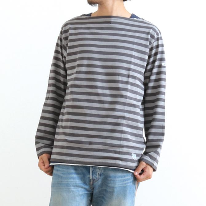 【今だけ10%OFF】ORCIVAL コットン天竺 長袖 ボートネック Tシャツ RC-9145 メンズ