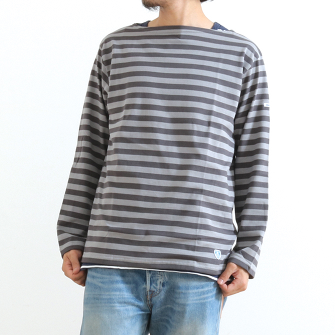 ORCIVAL コットン天竺 長袖 ボートネック Tシャツ RC-9145 メンズ