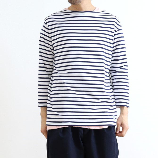 【今だけ10%OFF】ORCIVAL オーシバル BOAT NECK 3/4 SLEEVE T-SHIRT ボートネックTシャツ 七分袖 RC-9224 メンズ