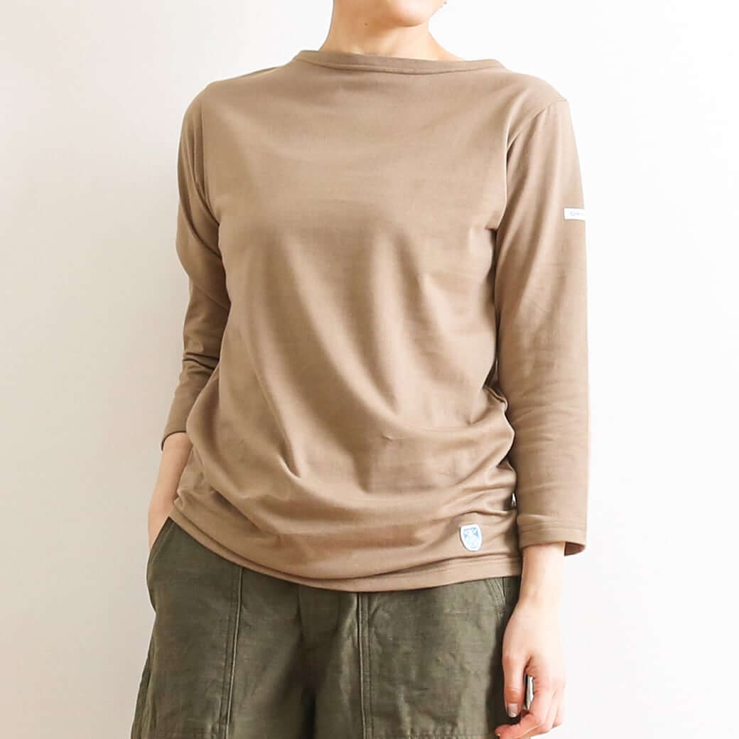 【今だけ10%OFF】ORCIVAL オーシバル ボートネック七分袖Tシャツ