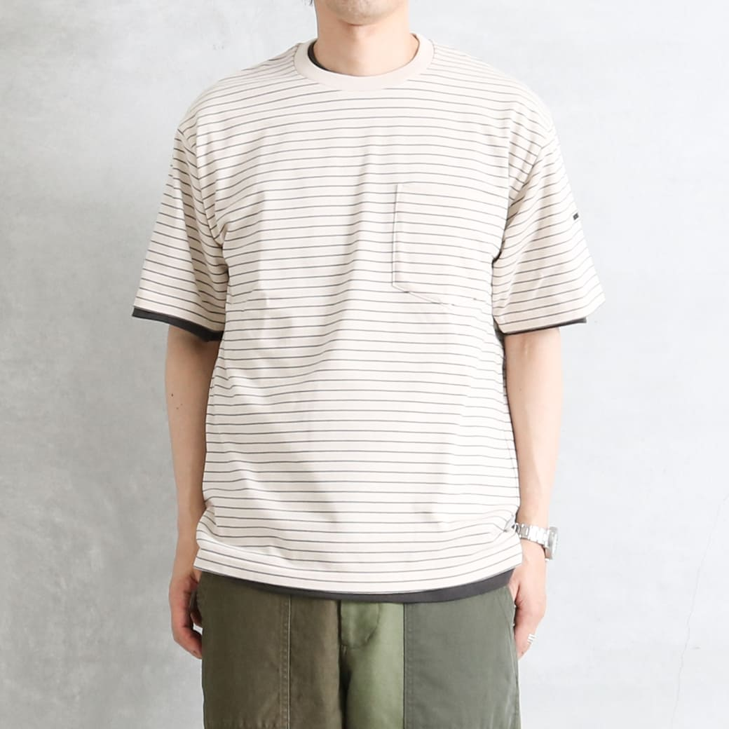 ORCIVAL オーシバル ハイカウント ポケットTシャツ