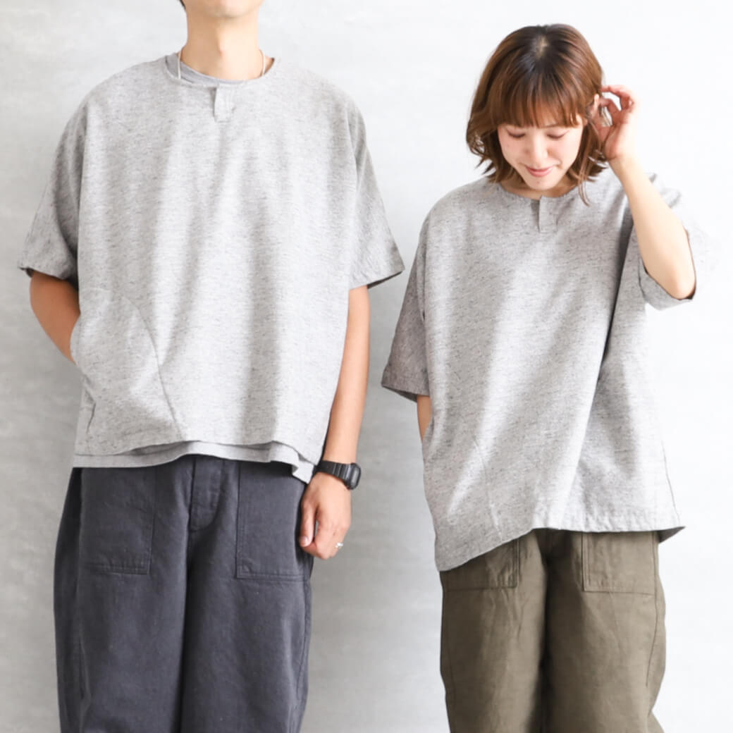 ORDINARY FITS オーディナリーフィッツ 杢ネップ半袖プルオーバー