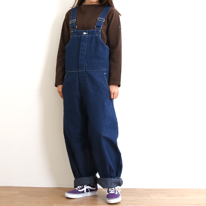ORDINARY FITS(オーディナリーフィッツ) DUKE OVERALL ONE WASH デューク オーバーオール ワンウォッシュ OF-O012OW レディース