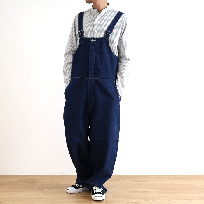 ORDINARY FITS(オーディナリーフィッツ) DUKE OVERALL ONE WASH デューク オーバーオール ワンウォッシュ OF-O012OW メンズ