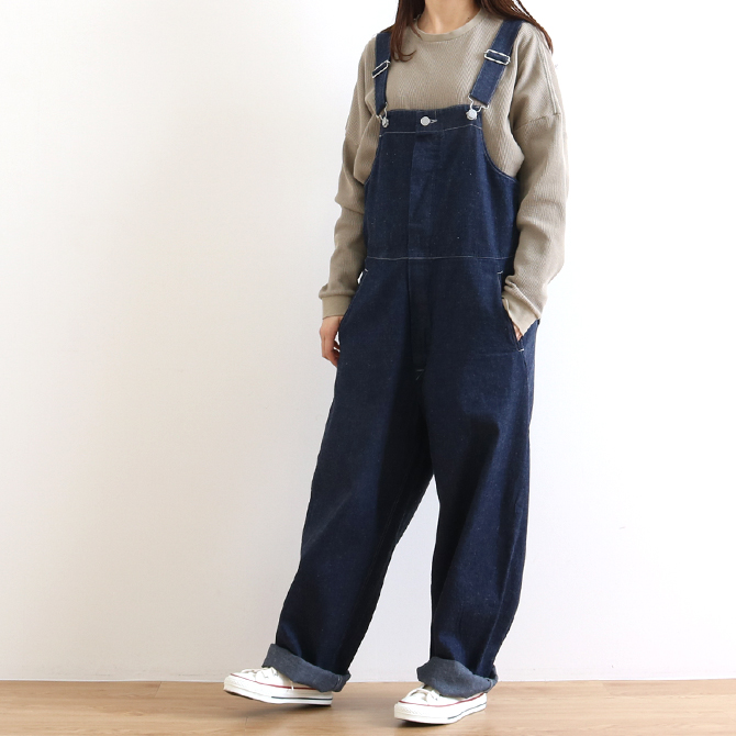 ORDINARY FITS(オーディナリーフィッツ) DUKE OVERALL DENIM one wash IND デューク オーバーオール OF-O013OW デニム ワンウォッシュ インディゴ レディース