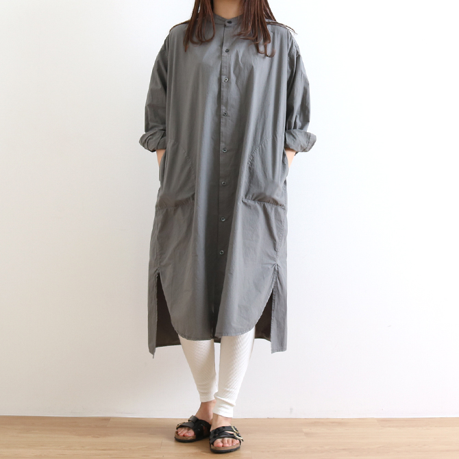 ORDINARY FITS(オーディナリーフィッツ) STAND EDWARD ONEPIECE スタンド エドワード ワンピース OF-O014 シャツワンピ レディース 無地