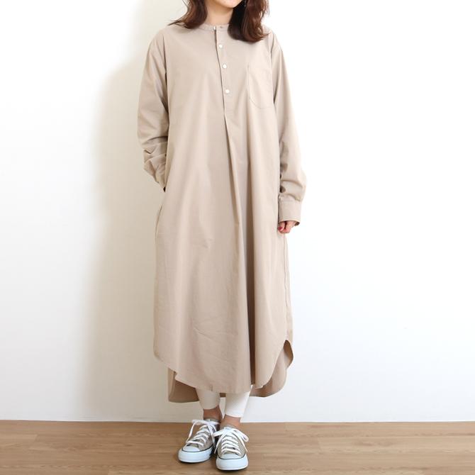 【今だけ10%OFF】HARVESTY(ハーベスティ) TRAVEL TYPEWRITER CLOTH SHIRT DRESS トラベルタイプライターシャツワンピース A41901