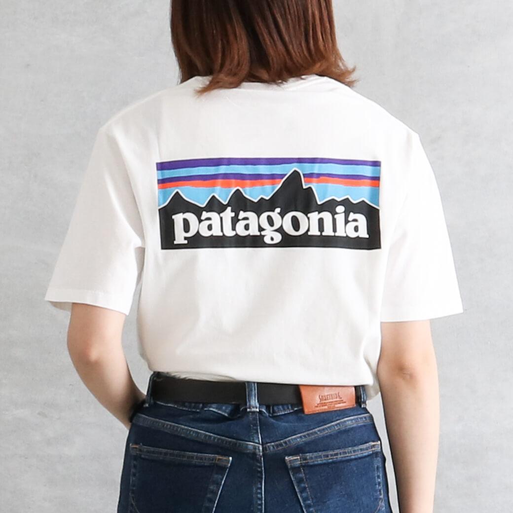 【今だけ10%OFF】Patagonia パタゴニア メンズP-6 ロゴオーガニックTシャツ