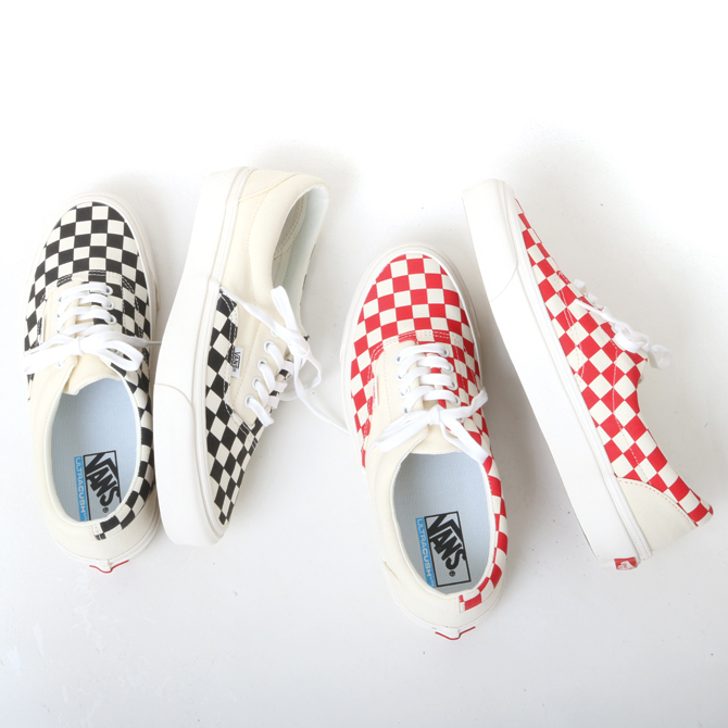 VANS(ヴァンズ) PODIUM ERA CRAFT CHECKRBOARD/BLACK(VN0A3WLRVPN) CHECKRBOARD/RACING RED(VN0A3WLRVPO) メンズ